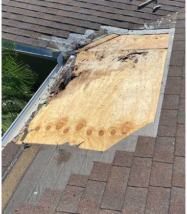 Eden Ct. Wood Rot Repair - Clearwater - Before Photo