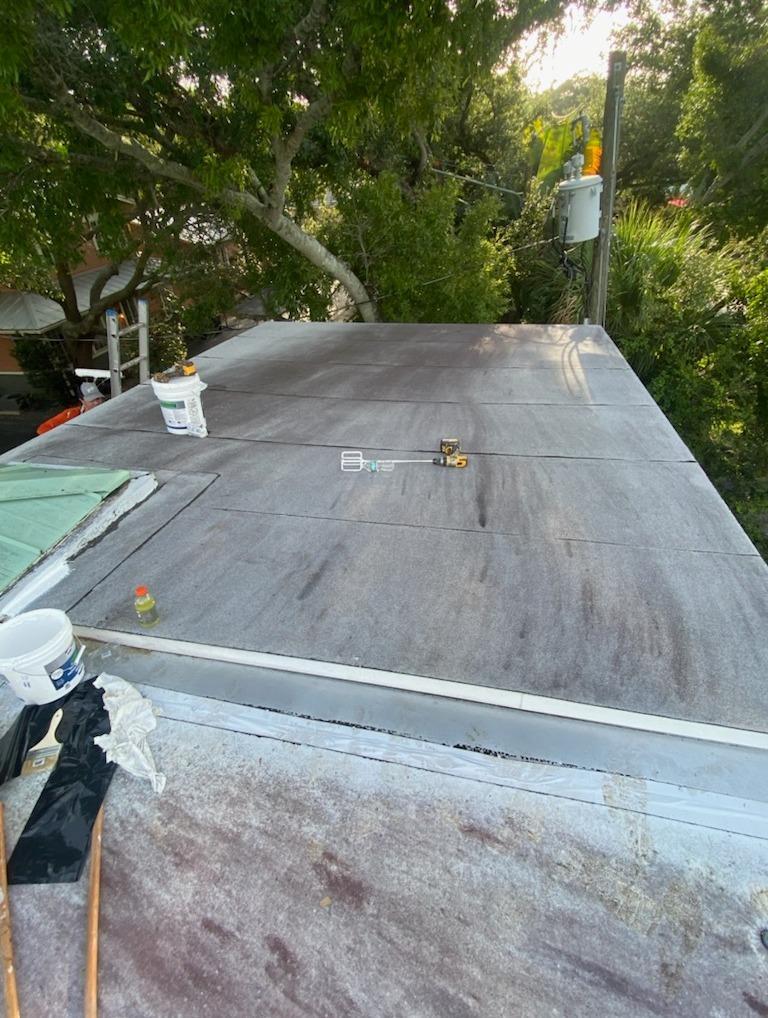 Roof Coating- Belleair - Before Photo