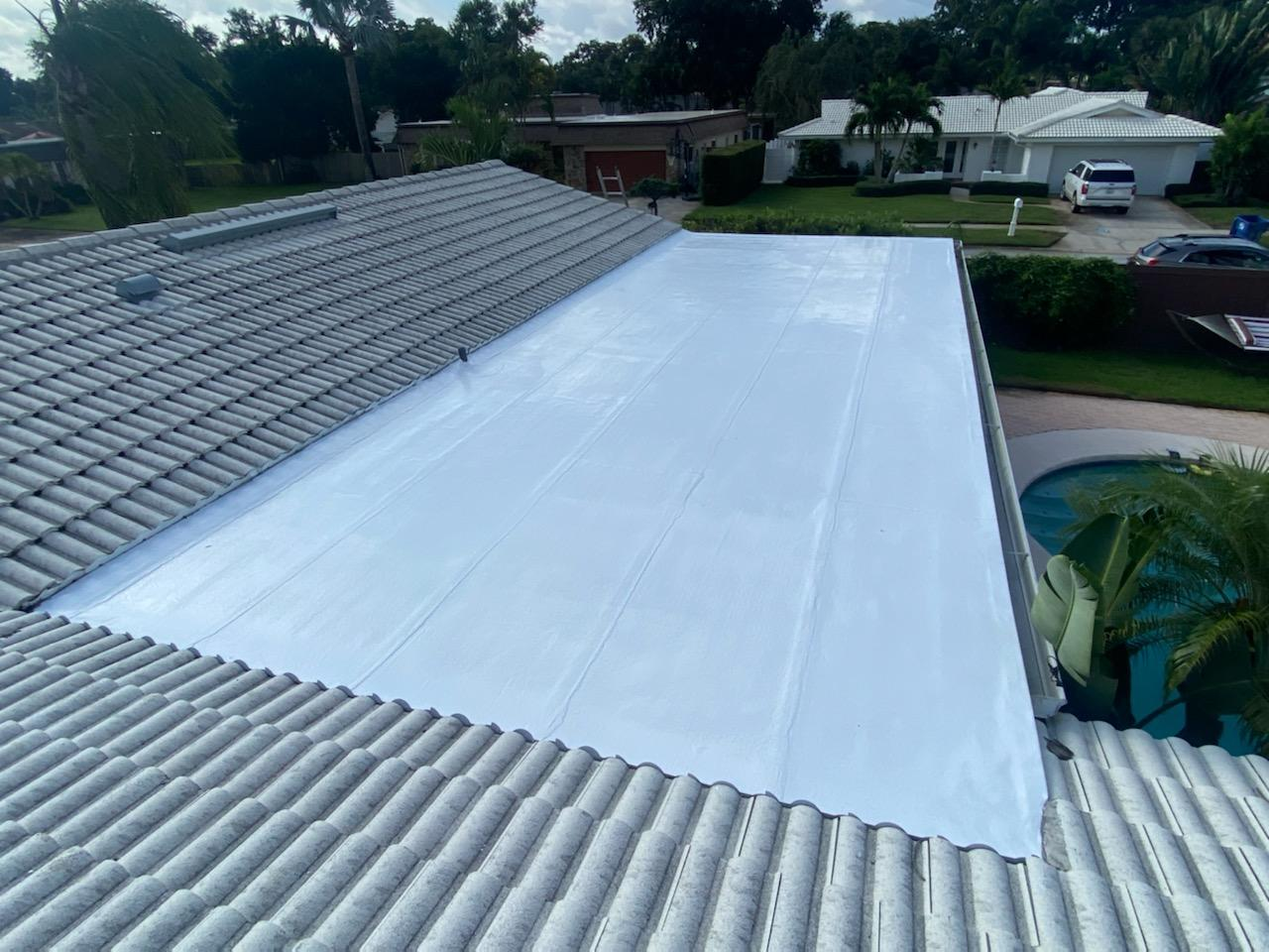 Flat Roof- Silicone Coating - After Photo