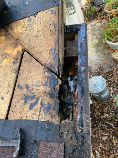 Wood Rot Repair. - Before Photo
