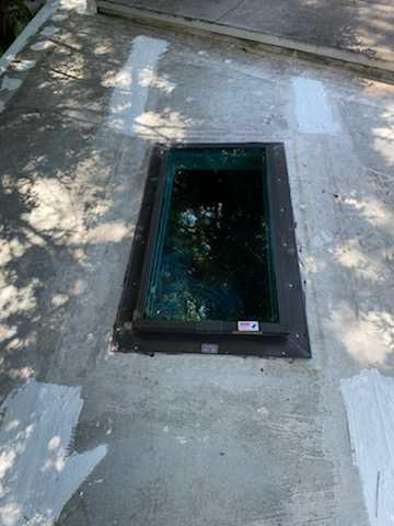 Skylight Repair - Before Photo