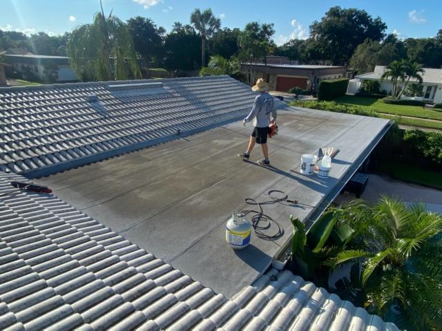 Flat Roof- Silicone Coating - Before Photo