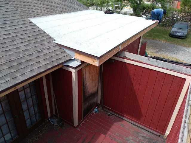 Wood Rot Flat Roof Repair