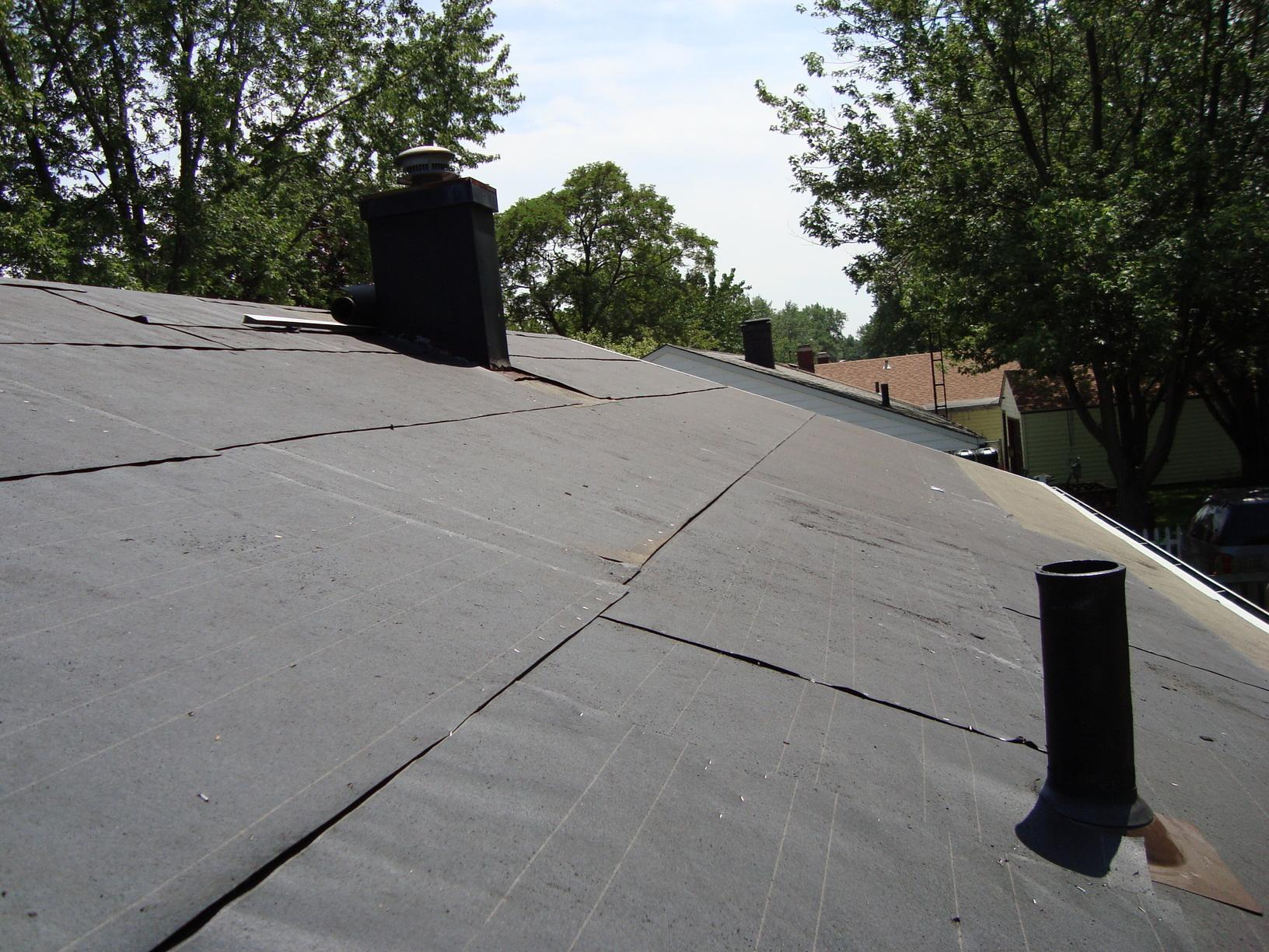 Sheffield Lake Roof Replacement - Before Photo