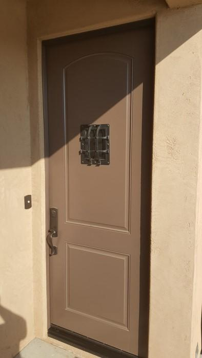 Single Legacy Door Screen Install in Mesquite, NV - Before Photo