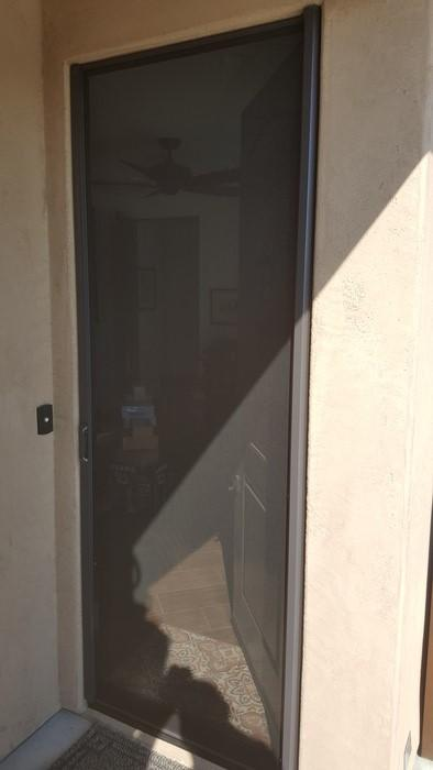 Single Legacy Door Screen Install in Mesquite, NV - After Photo