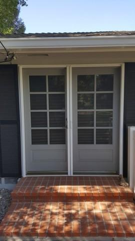 Phantom Screen Double Door Residential Installation in Bakersfield, CA