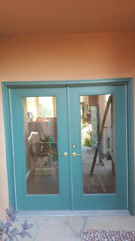 Double Screen Doors Installed in Mesquite, NV - Before Photo