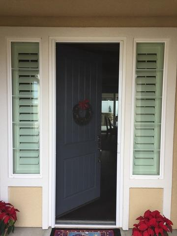 Single Retractable Screen door Installed in Bakersfield, CA