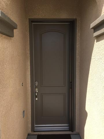 Phantom Legacy Retractable Door Screen in Rideau Brown Installed in Fresno, CA