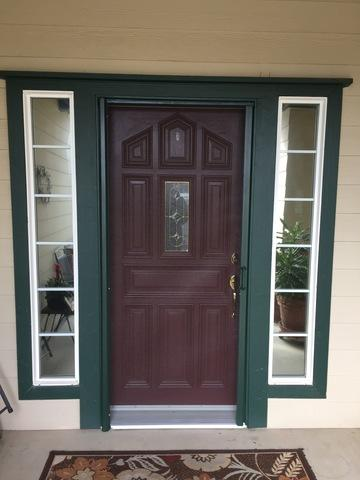 Phantom Legacy Retractable Door Screen in Hartford Green Installed in Visalia