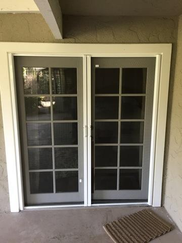 Phantom Legacy French Door Screens Installed in Fresno