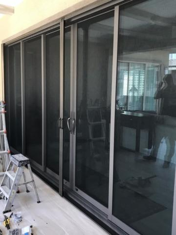 Double Phantom manual Retractable Door Screen