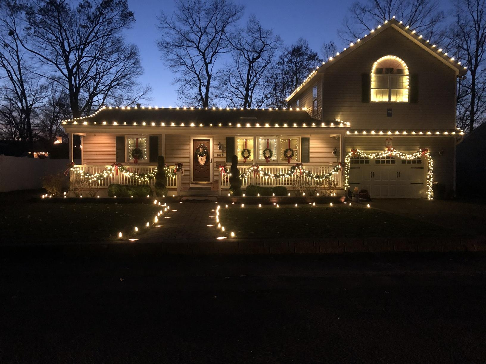 Holiday Light Display in Point Pleasant, NJ - After Photo