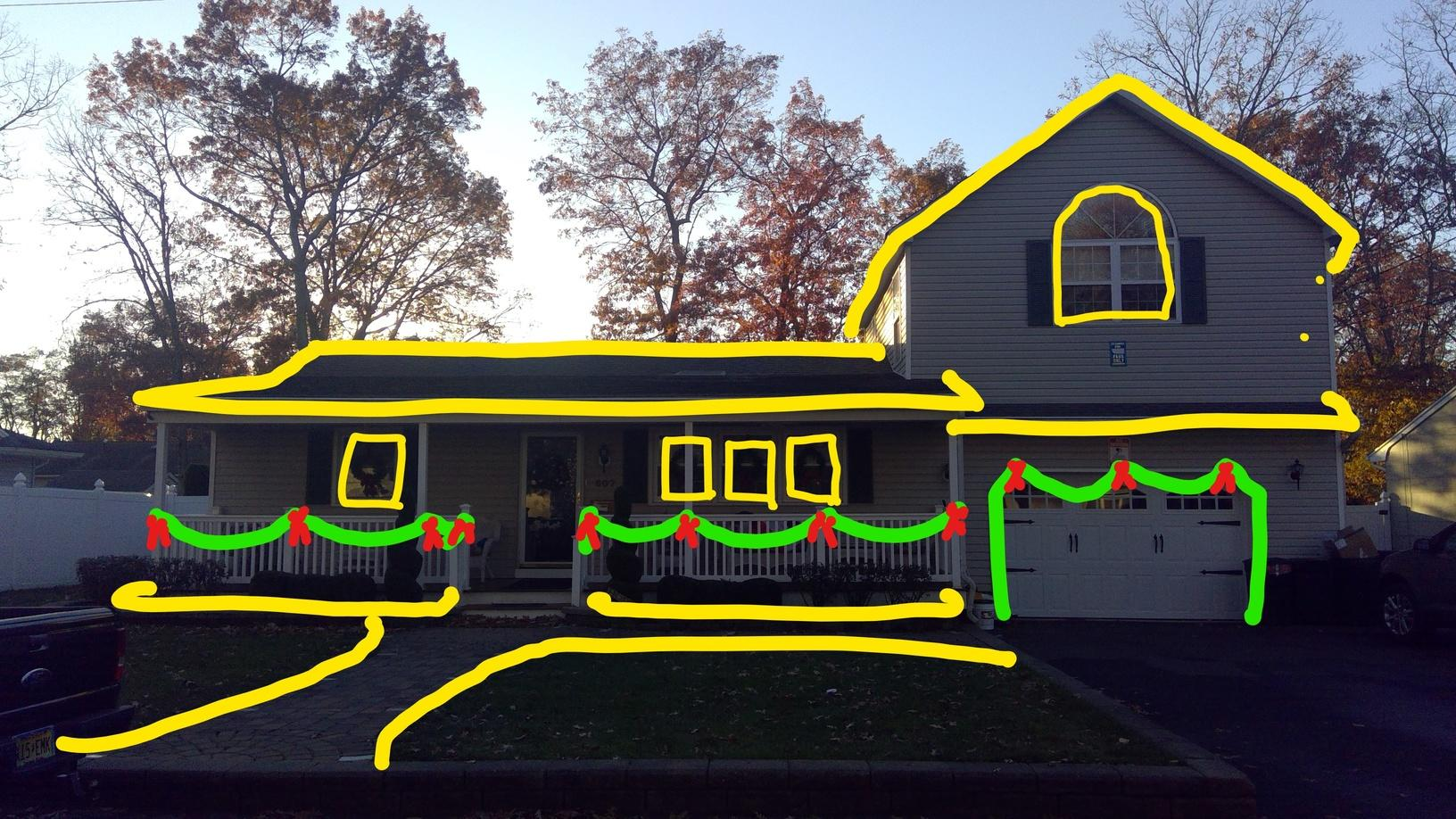 Holiday Light Display in Point Pleasant, NJ - Before Photo