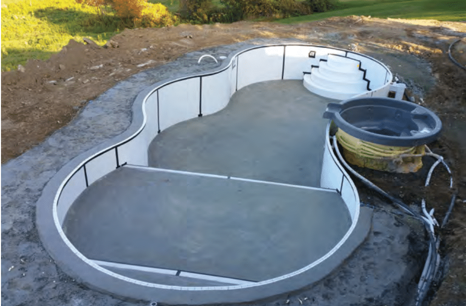Beautiful In-ground Radiant Pool Installation in Millstone, NJ - Before Photo