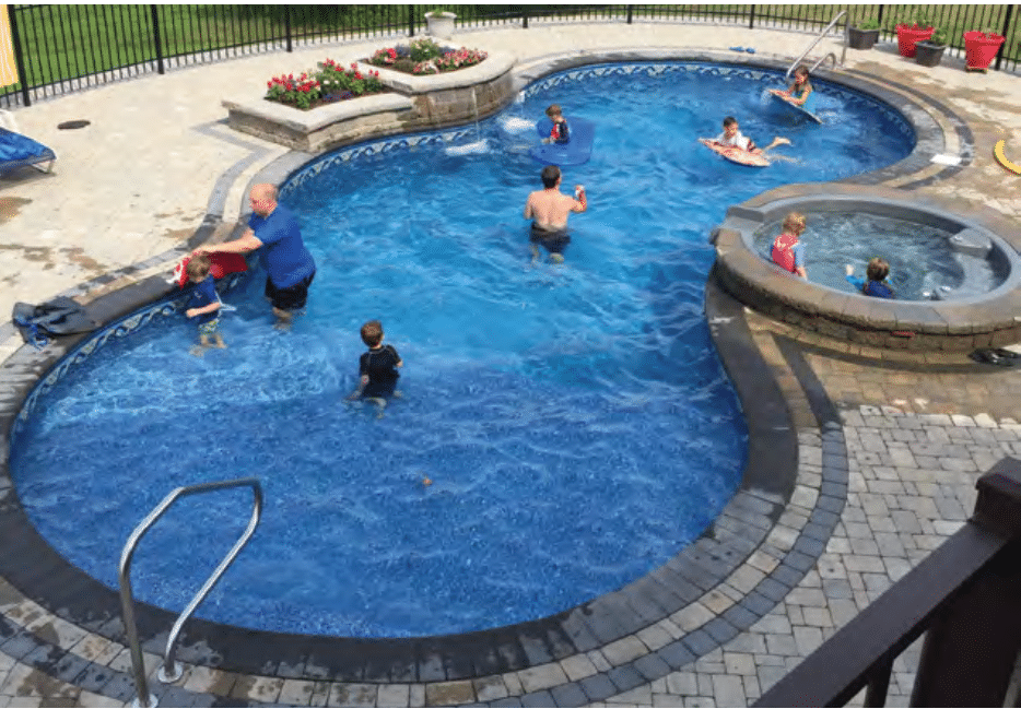 Beautiful In-ground Radiant Pool Installation in Millstone, NJ - After Photo