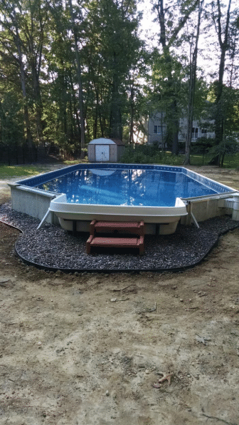 Radiant Pool Installation in East Brunswick , NJ - After Photo