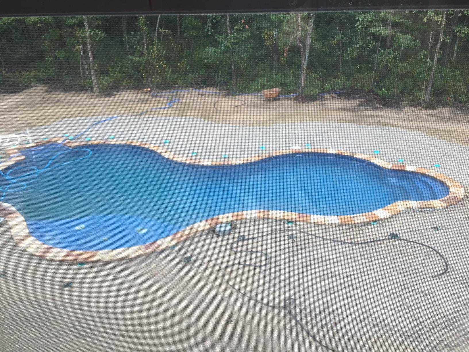 Custom In-ground Radiant Pool Installation in Jackson, NJ - Before Photo