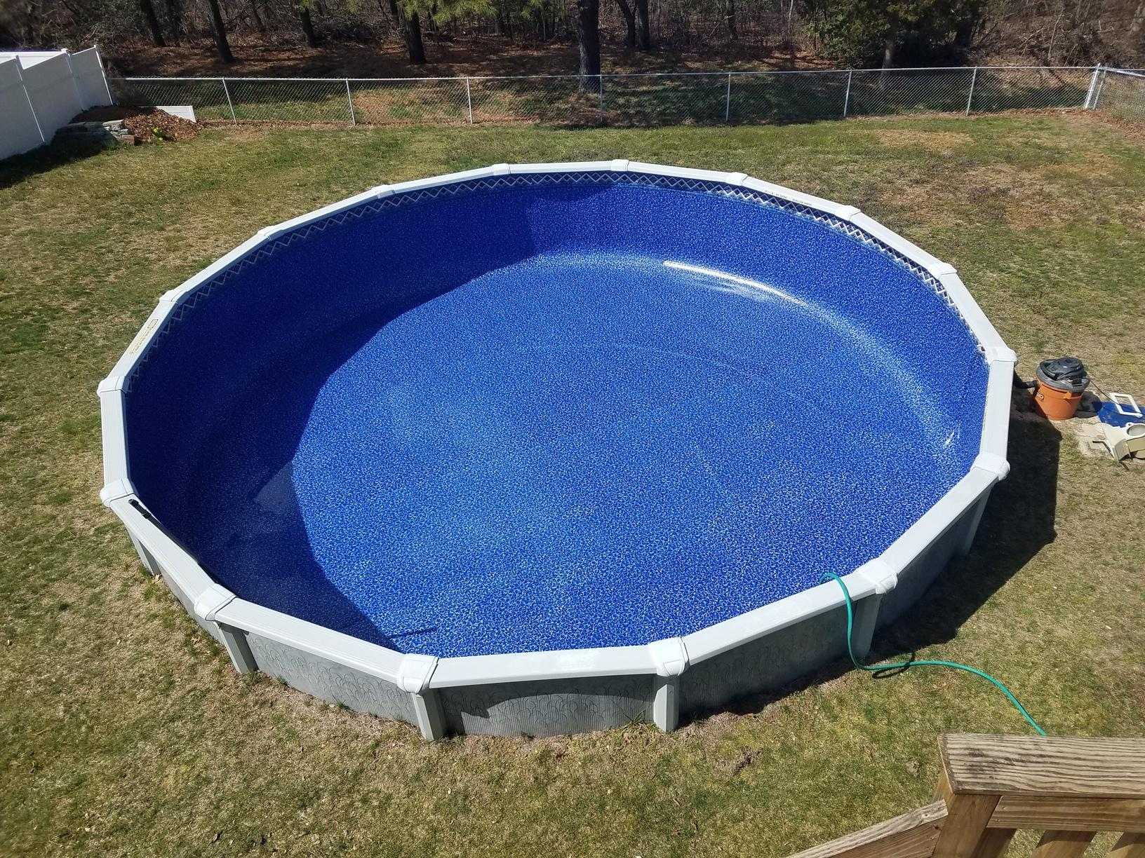 Above Ground Liner Replacement in Bayville, NJ - After Photo