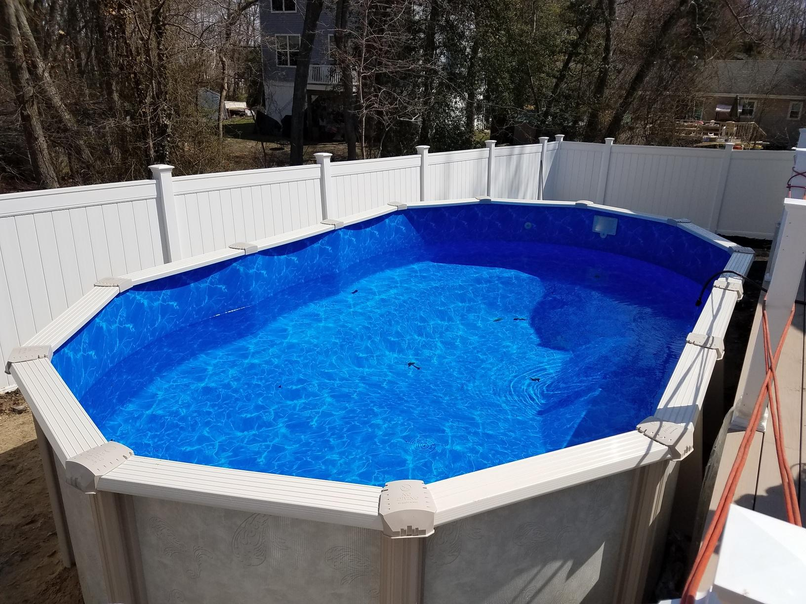 Above Ground Pool Installation with Hand Dig in Lanoka Harbor - After Photo