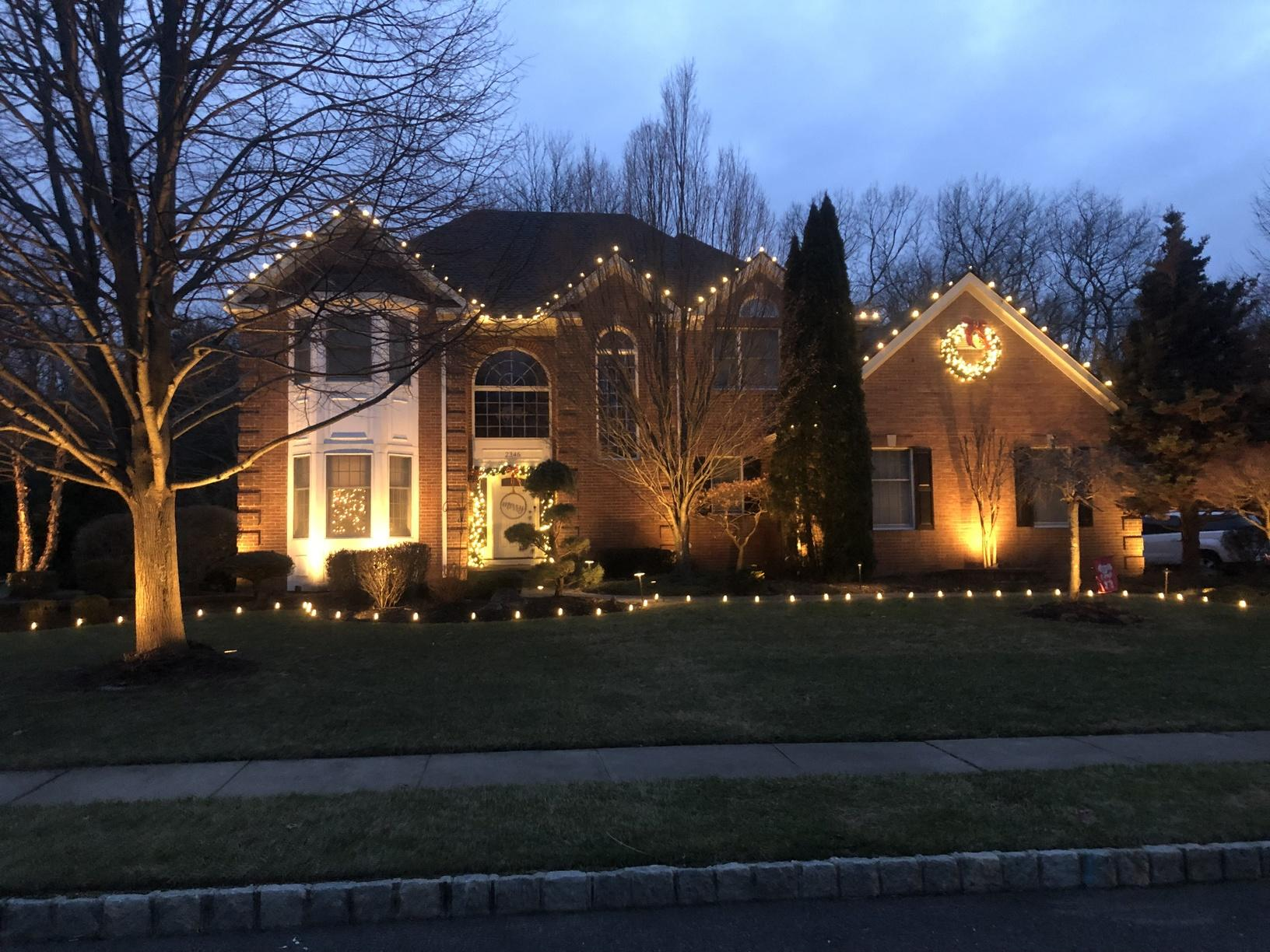 Christmas Lights Display in Manasquan, NJ - After Photo