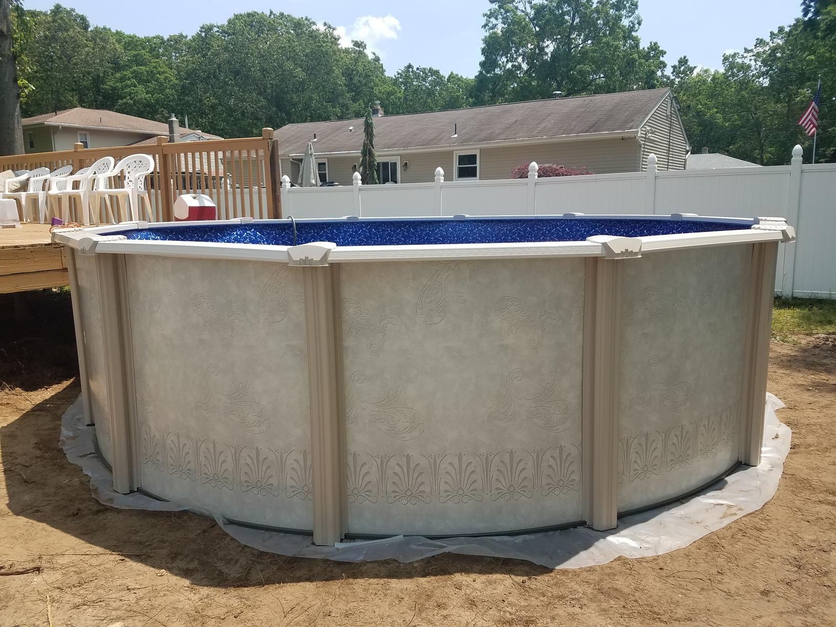 Above Ground Pool Installation in Old Bridge, NJ - After Photo