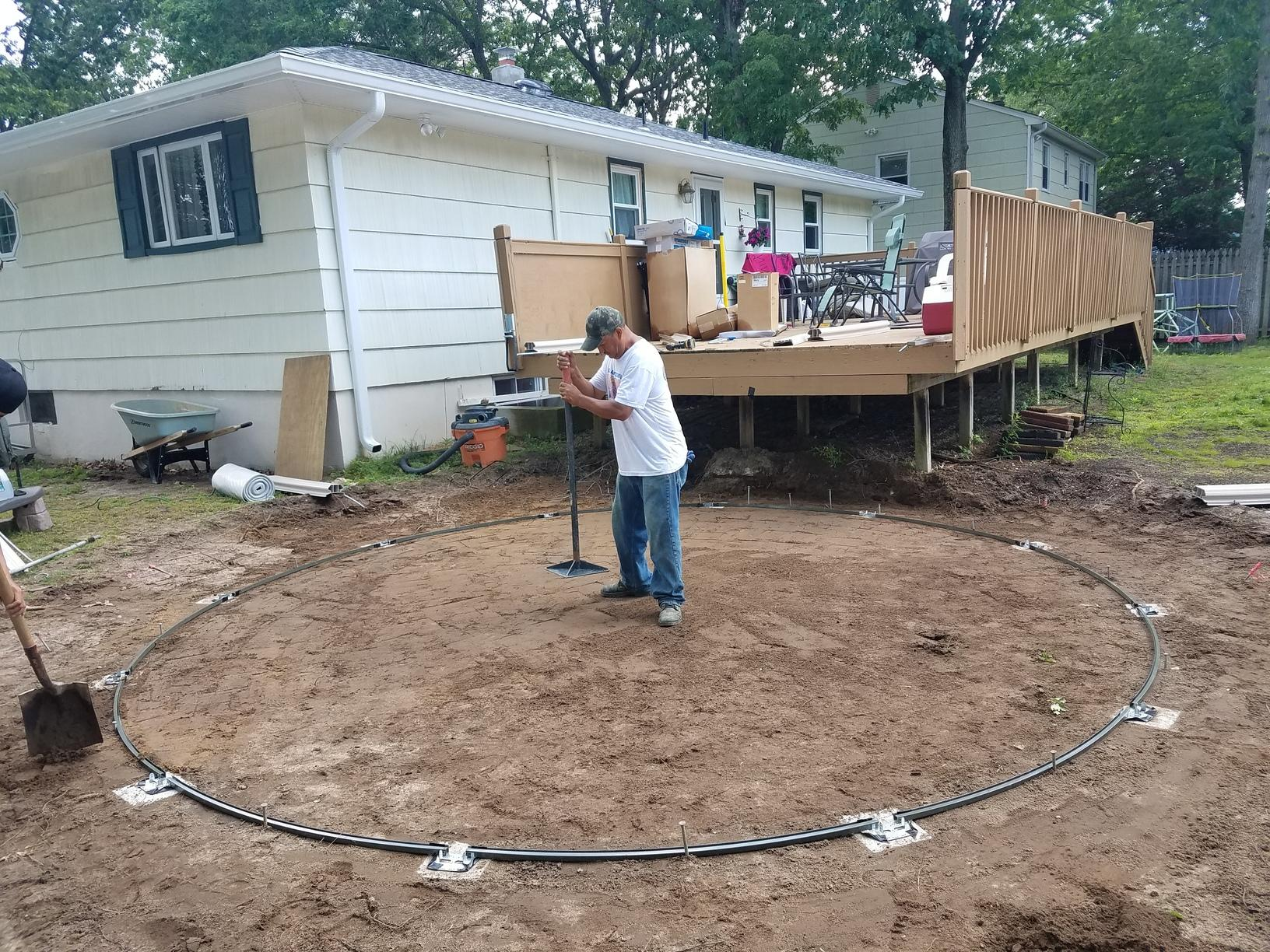 Above Ground Pool Installation in Old Bridge, NJ - Before Photo