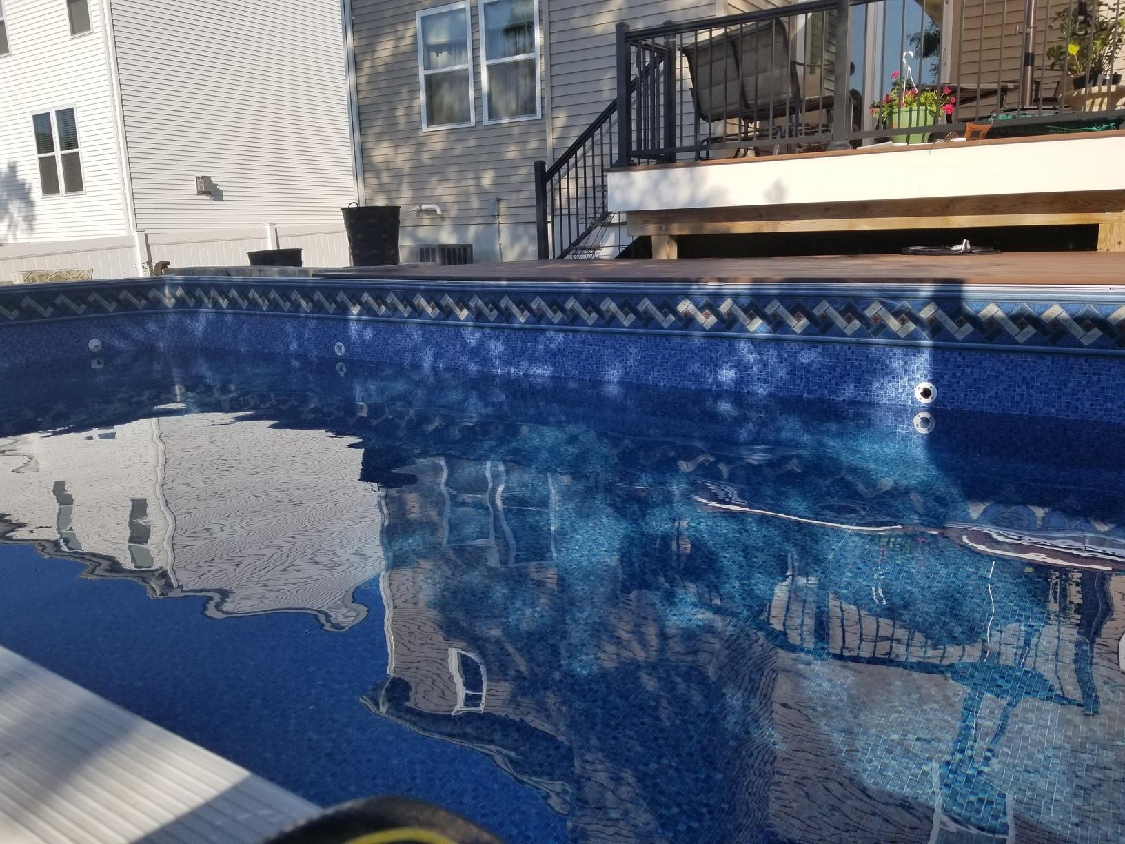 On Ground Radiant Pool Installation in Beachwood, NJ - After Photo