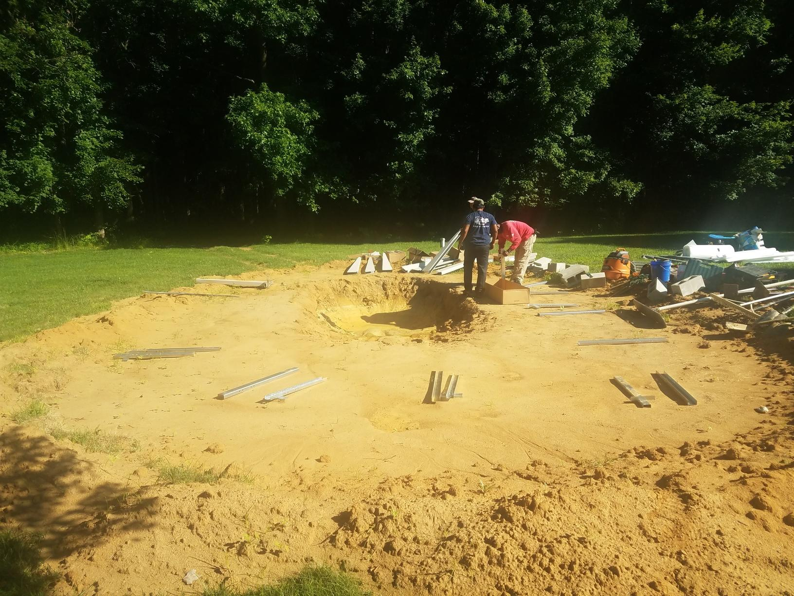 Doughboy Pool Installation in Upper Freehold, NJ - Before Photo