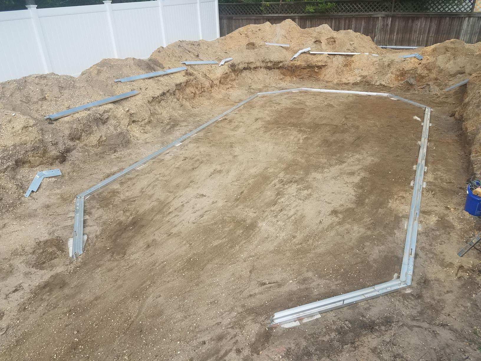 On Ground Radiant Pool Installation in Pine Beach, NJ - Before Photo