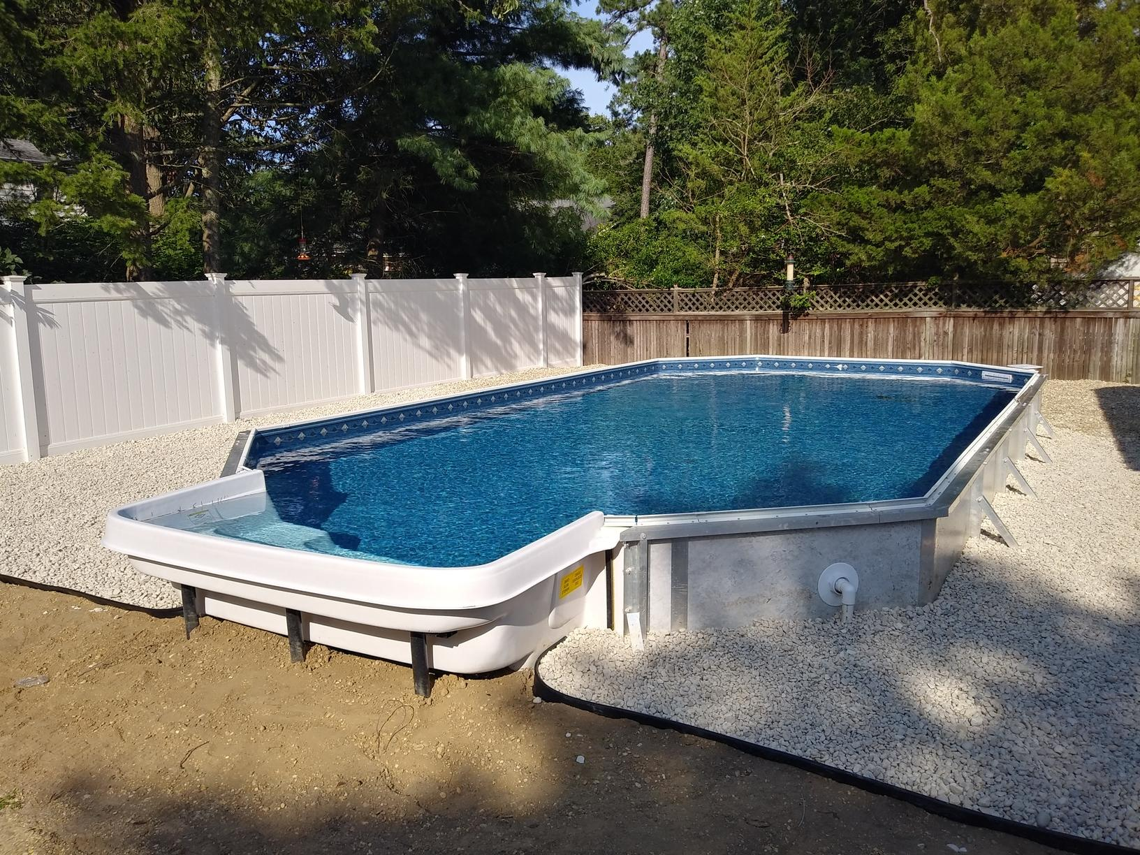 On Ground Radiant Pool Installation in Pine Beach, NJ - After Photo