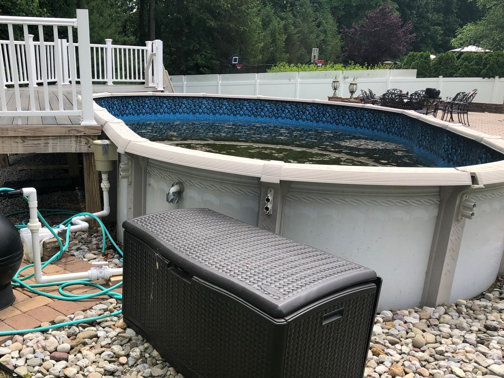 On Ground Radiant Pool Installation in Jackson, NJ - Before Photo