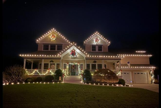 Christmas Lights in Forked River, NJ - After Photo
