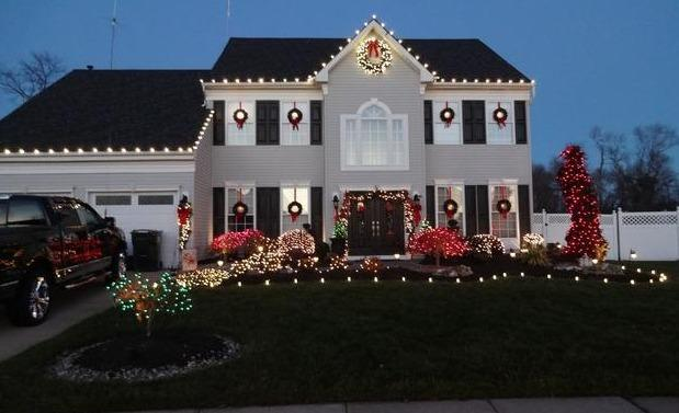 Professional Christmas Lights in Howell NJ - After Photo