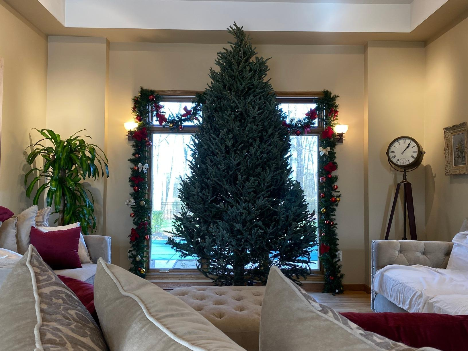 Professional Interior Christmas Decorating in Farmingdale, NJ - Before Photo