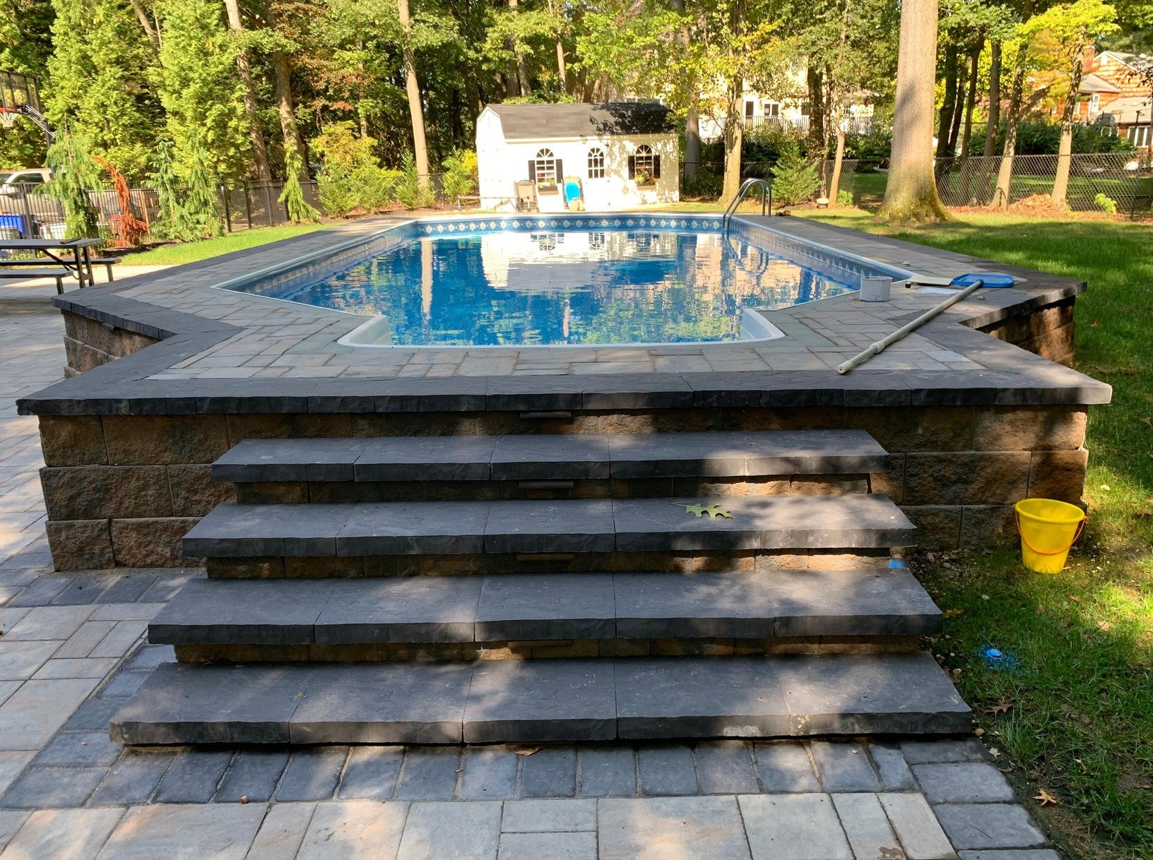 Radiant Pool Installation with Hardscaping in East Brunswick, NJ - After Photo