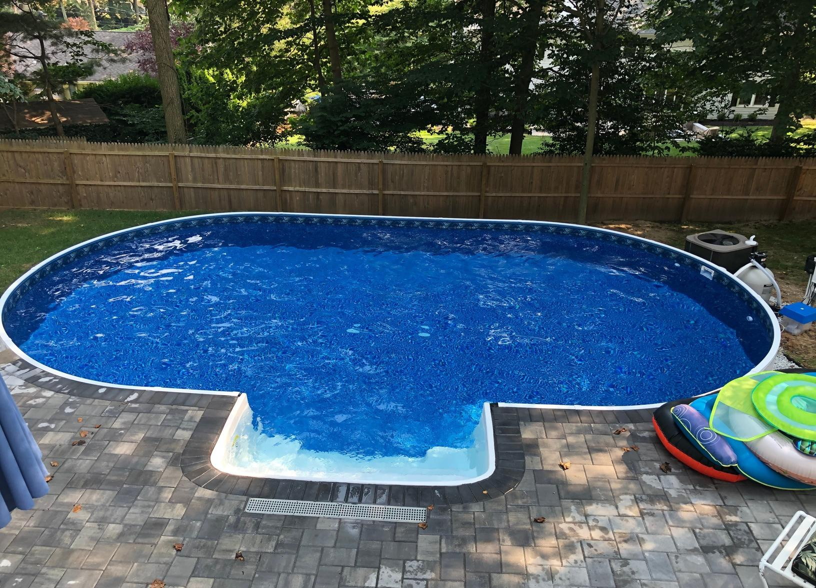 On Ground Radiant Pool Installation in Middletown, NJ - After Photo