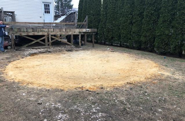 Above Ground Pool Installation in Sayreville,NJ - Before Photo