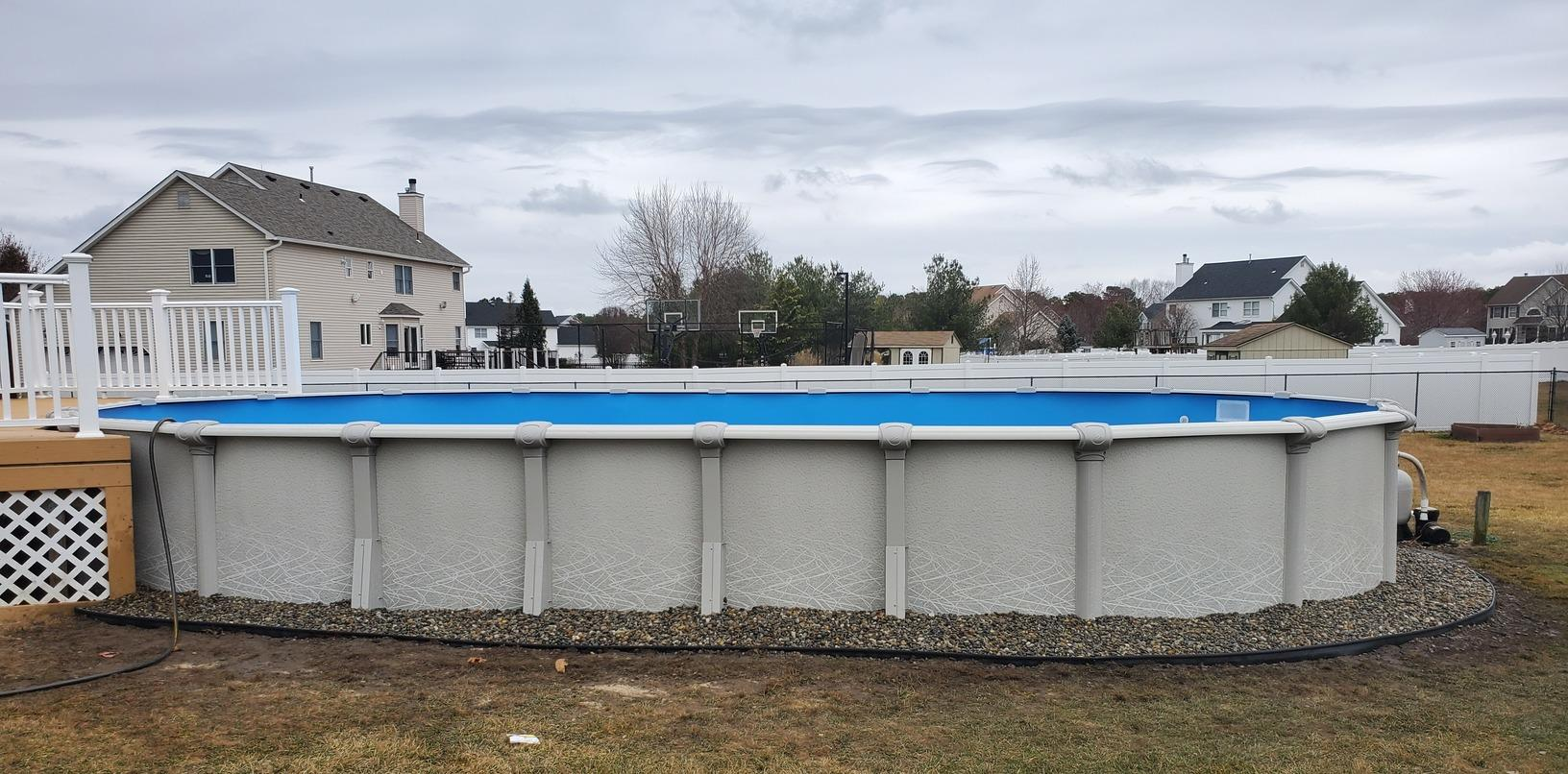 Above Ground Pool Installation in Monroe Township, NJ - After Photo