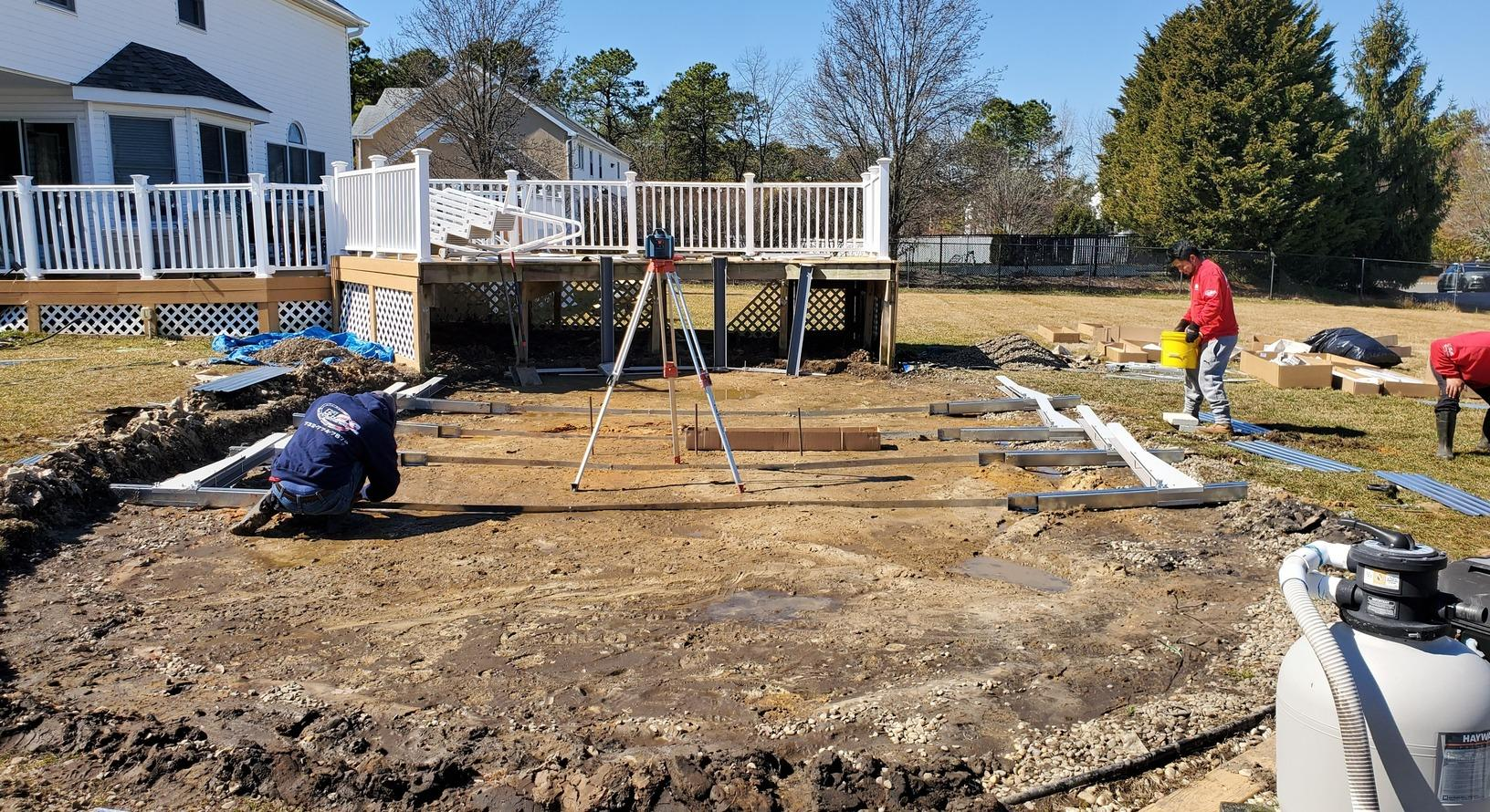 Above Ground Pool Installation in Monroe Township, NJ - Before Photo