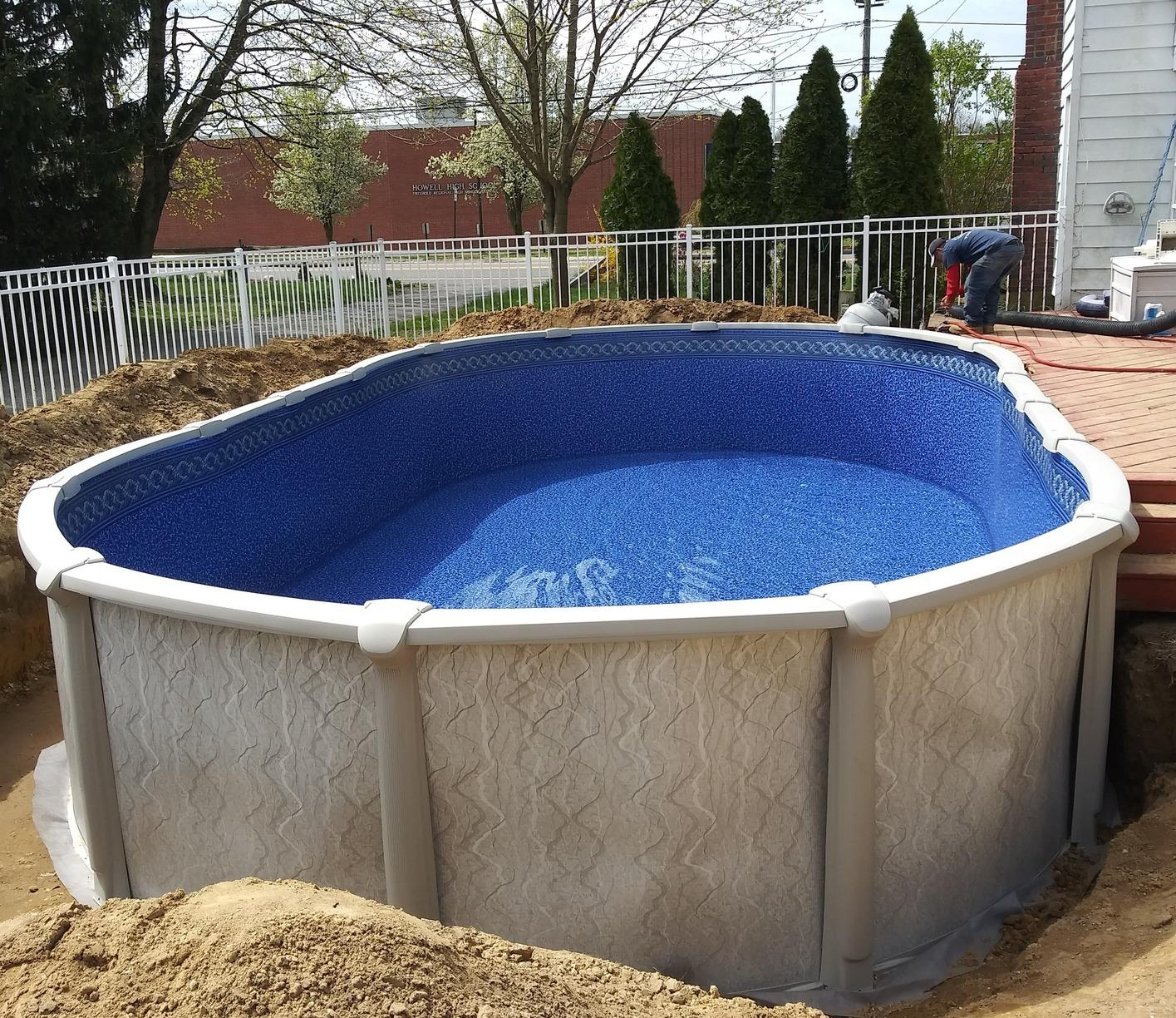 Above Ground Pool Installation in Farmingdale, NJ - After Photo