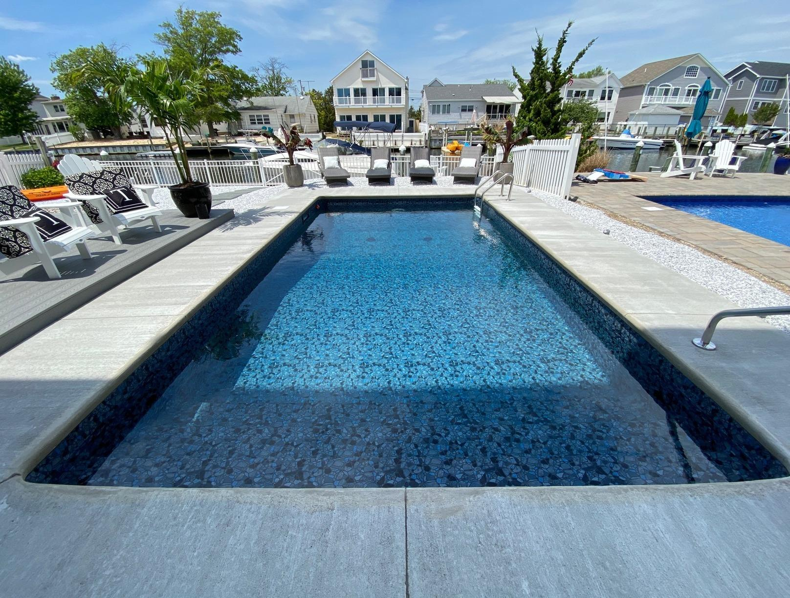 In Ground Pool Installation in Point Pleasant , NJ - After Photo