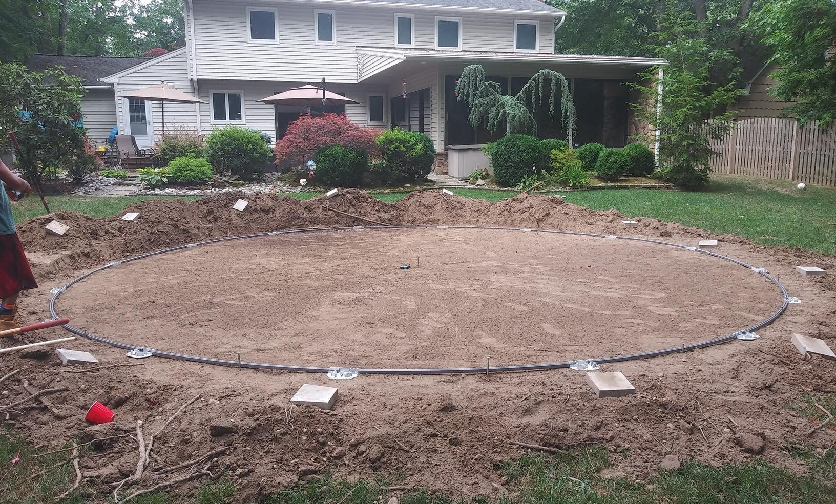 Above Ground Pool Installation in East Brunswick, NJ Backyard - Before Photo