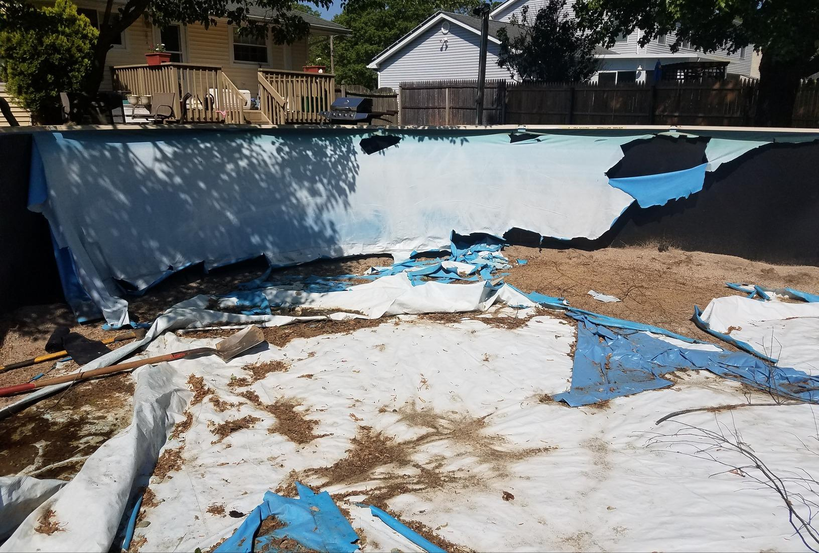 Above Ground Pool Liner  Installation in South Plainfield, NJ - Before Photo