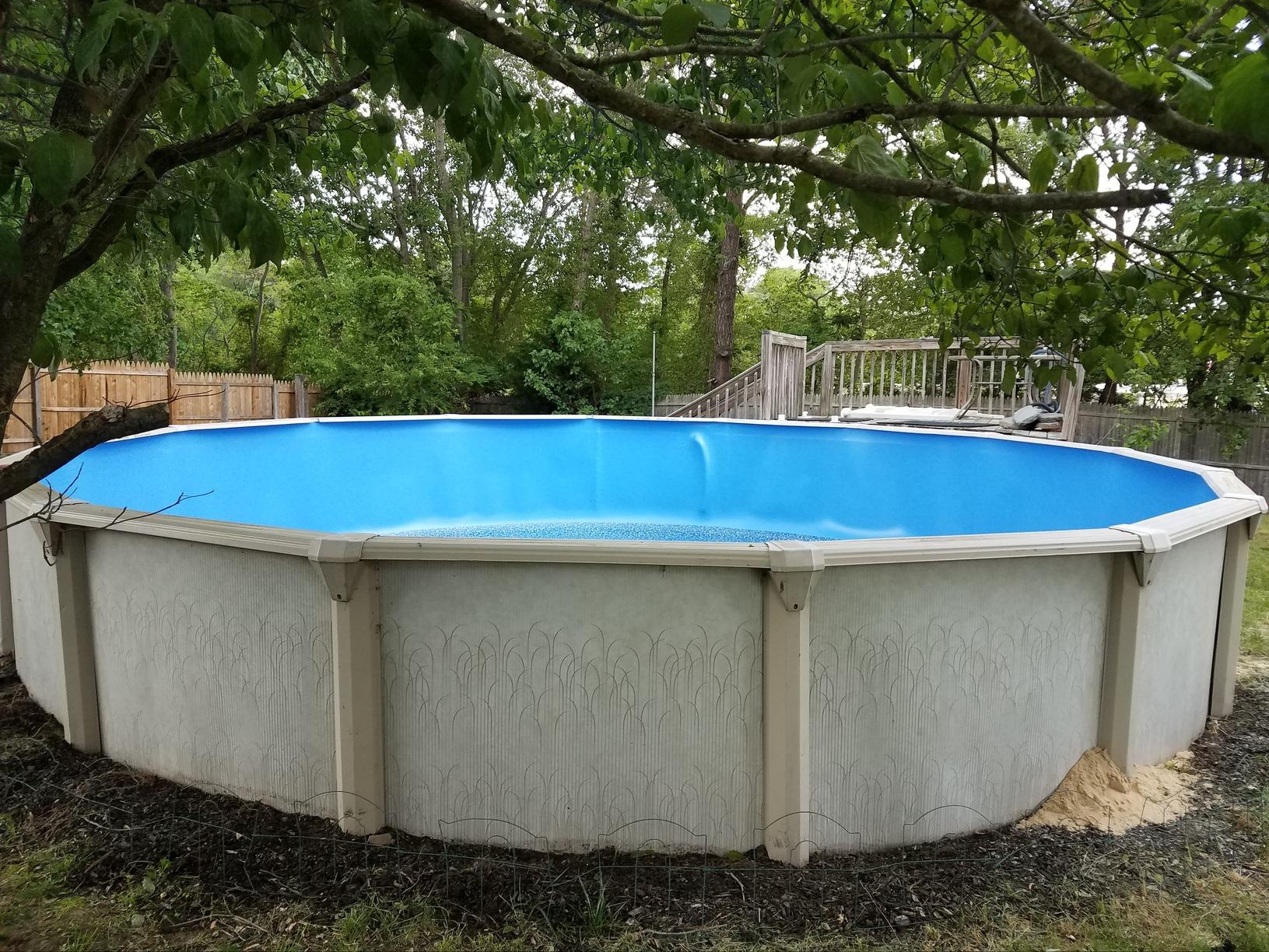 Above Ground Pool Liner  Installation in South Plainfield, NJ - After Photo
