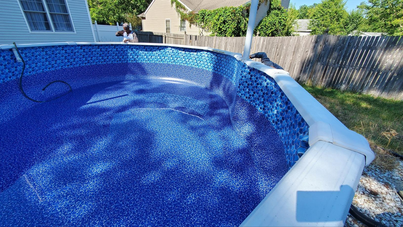 Above Ground Pool Liner Change in Manahawkin, NJ - After Photo