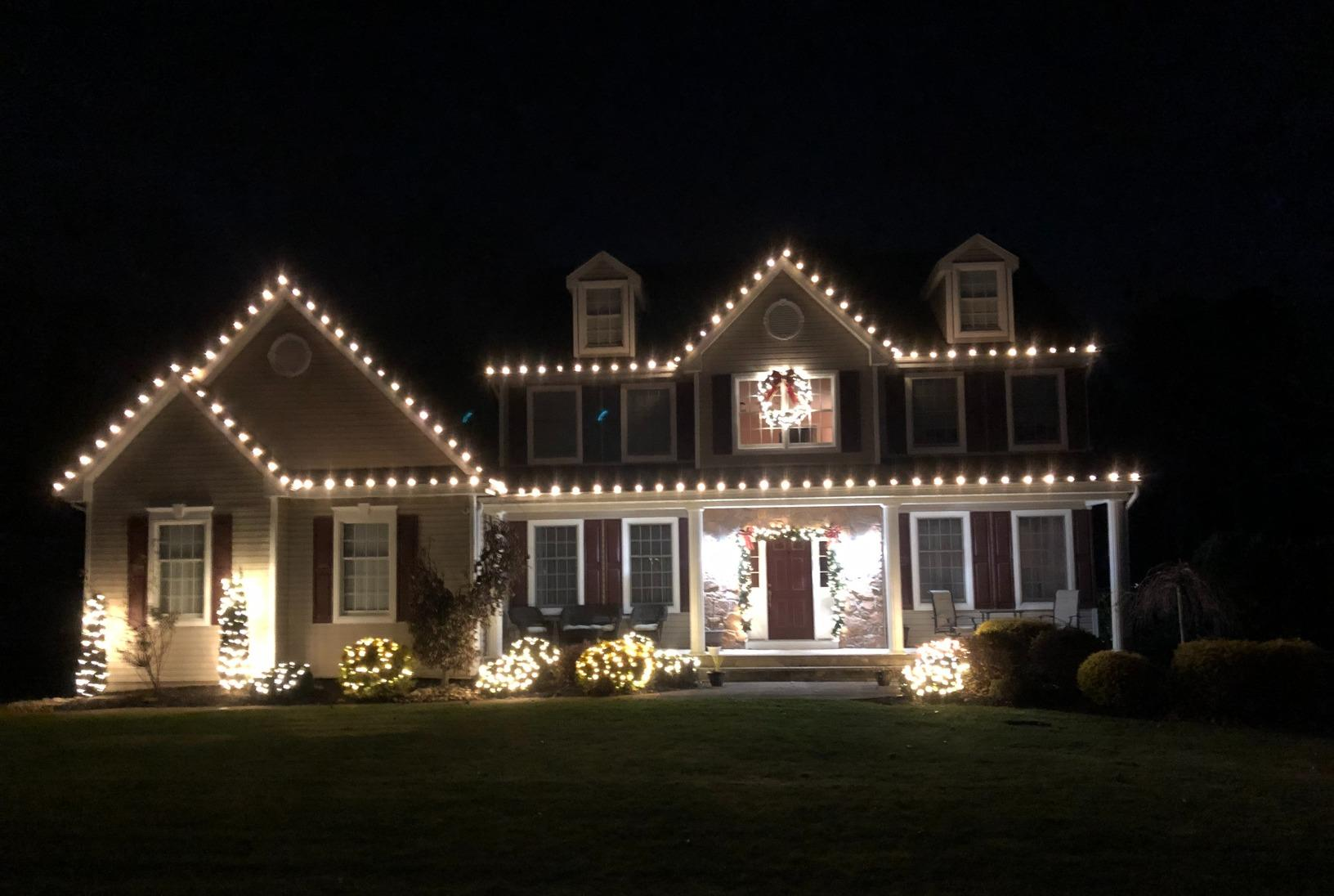 Professional Christmas Lighting in New Egypt, NJ - After Photo