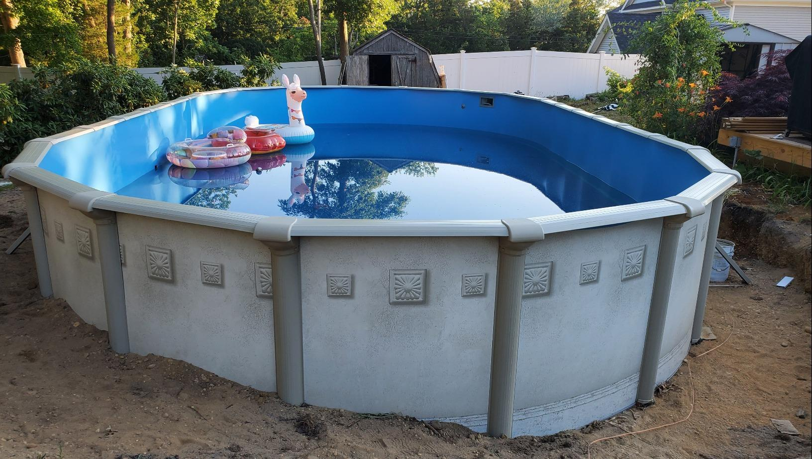 Above Ground Pool Installation in West Creek, NJ - After Photo