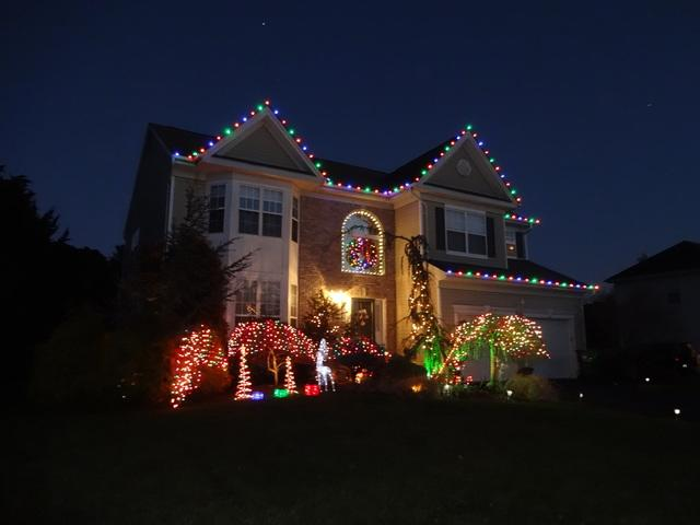 Christmas Lights Display in Jackson, NJ - After Photo